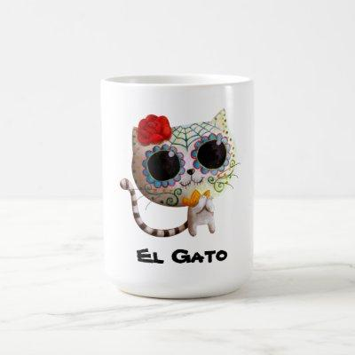 The Day of The Dead Cute Cat Coffee Mug
