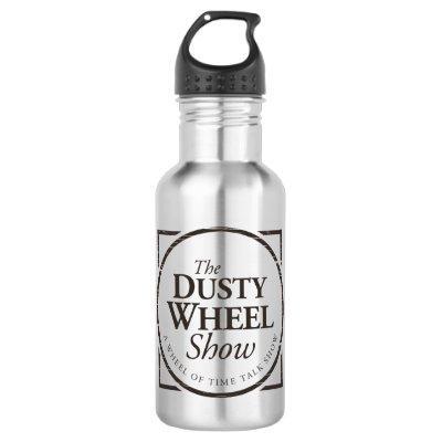 The Dusty Wheel Podcast Symbol: Water Bottle