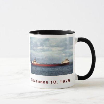 The Edmund Fitzgerald with Crew Names Mug