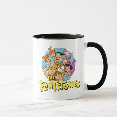 The Flintstones and Rubbles Family Graphic Mug