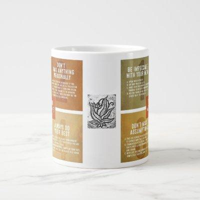 The Four Agreements Giant Coffee Mug