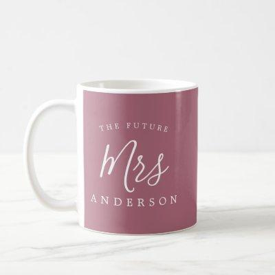 The Future Mrs Purple Cassis Engagement Gift Coffee Mug
