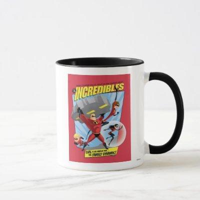 The Incredibles Action Poster Disney Mug