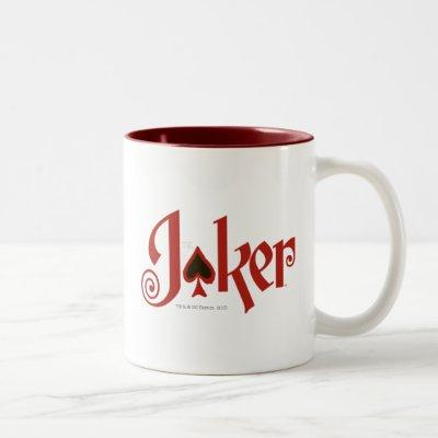 The Joker Playing Card Logo Two-Tone Coffee Mug
