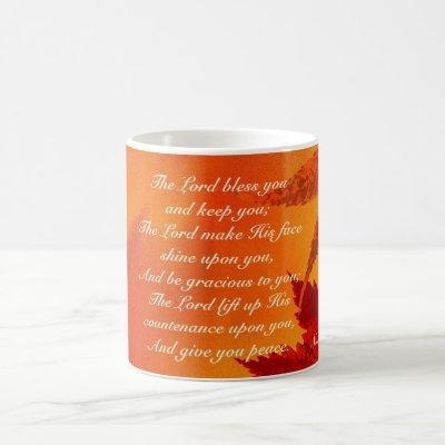 The Lord Bless You, Autumn Leaves Thanksgiving Coffee Mug