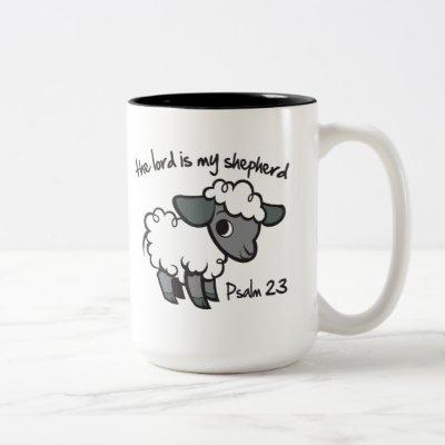 The Lord is my Shepherd Two-Tone Coffee Mug