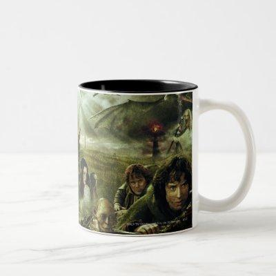 THE LORD OF THE RINGS Movie Poster Art Two-Tone Coffee Mug