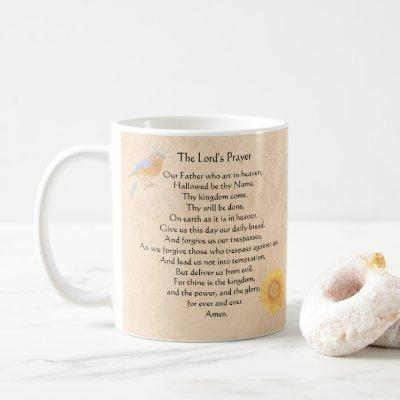 The Lord's Prayer | Bluebird Coffee Mug