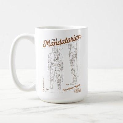 The Mandalorian Action Figure Diagram Coffee Mug