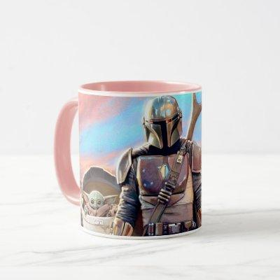 The Mandalorian And The Child At Sunset Mug