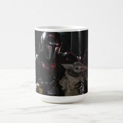 The Mandalorian And The Child In The Cockpit Coffee Mug