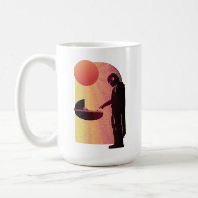 The Mandalorian And The Child Sun Rays Coffee Mug