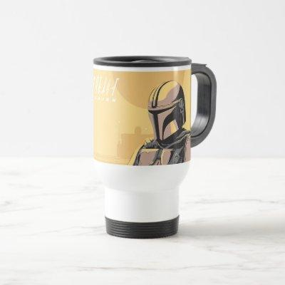 The Mandalorian Canons of Honor Graphic Travel Mug