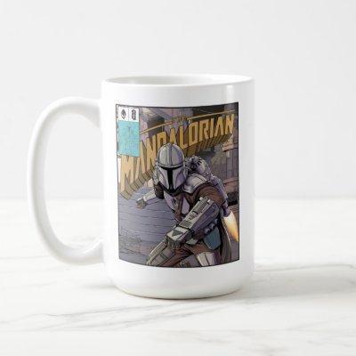 The Mandalorian Comic Book Style Cover Coffee Mug
