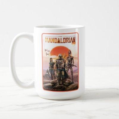 The Mandalorian Desert Sunset Group Art Coffee Mug