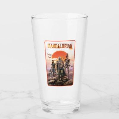 The Mandalorian Desert Sunset Group Art Glass