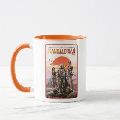 The Mandalorian Desert Sunset Group Art Mug