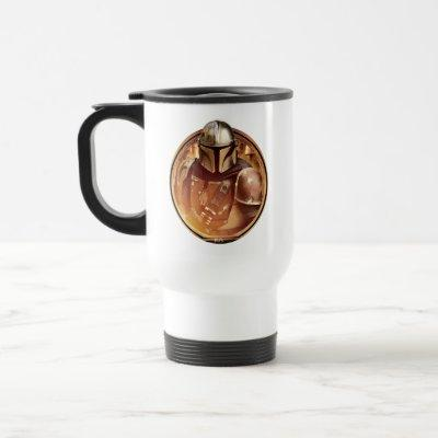 The Mandalorian Golden Badge Travel Mug