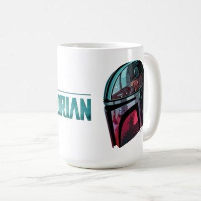 The Mandalorian Helmet Reflections Collage Coffee Mug