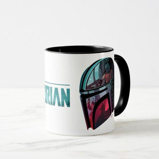 The Mandalorian Helmet Reflections Collage Mug