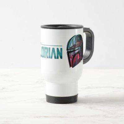 The Mandalorian Helmet Reflections Collage Travel Mug