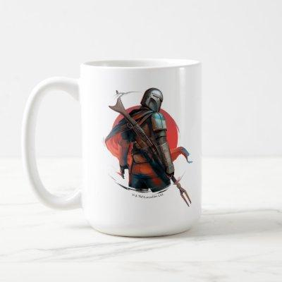 The Mandalorian Stylized Character Art Coffee Mug