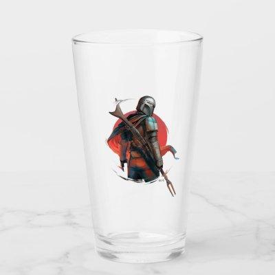 The Mandalorian Stylized Character Art Glass