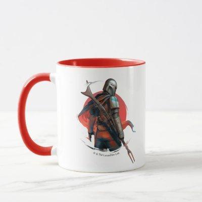The Mandalorian Stylized Character Art Mug
