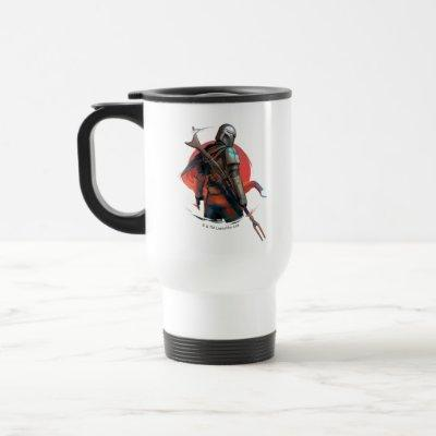 The Mandalorian Stylized Character Art Travel Mug