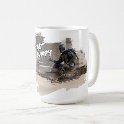 """The Mandalorian & The Child on Bike """"Hang On"""" Coffee Mug"""