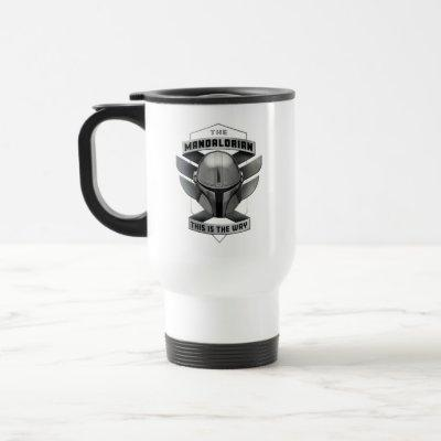 The Mandalorian | This Is The Way Helmet Badge Travel Mug