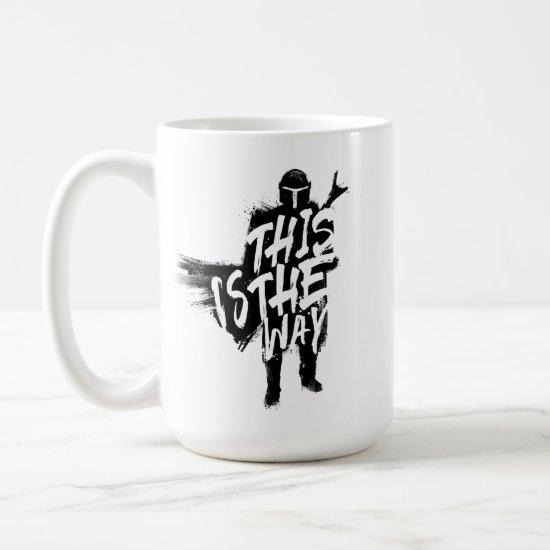 The Mandalorian | This Is The Way Ink Silhouette Coffee Mug