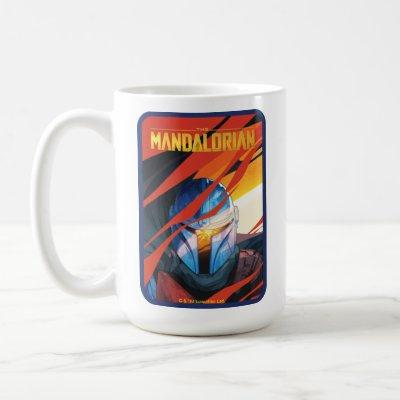 The Mandalorian Through Red Flames Coffee Mug