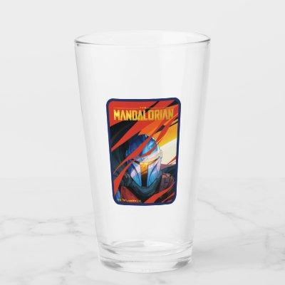 The Mandalorian Through Red Flames Glass