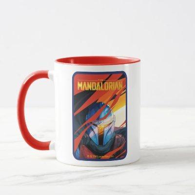 The Mandalorian Through Red Flames Mug