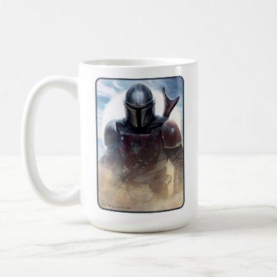 The Mandalorian Walking Through Desert Dust Coffee Mug