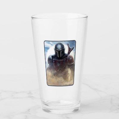 The Mandalorian Walking Through Desert Dust Glass
