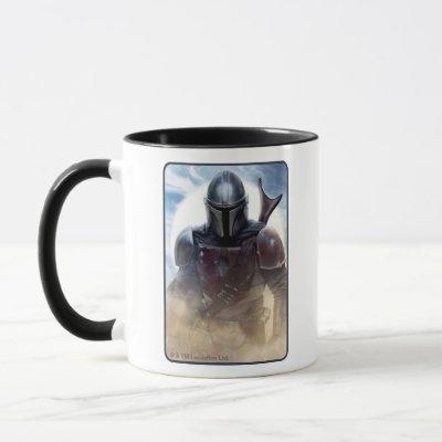 The Mandalorian Walking Through Desert Dust Mug