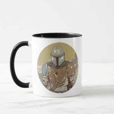 The Mandalorian Walking Through Smoke Mug