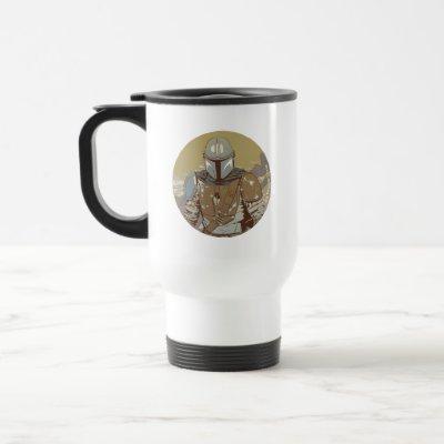 The Mandalorian Walking Through Smoke Travel Mug