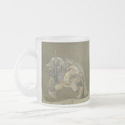 The Princess and the Trolls  - John Bauer Frosted Glass Coffee Mug