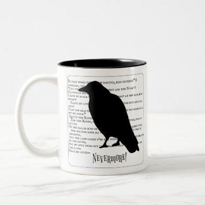 The Raven Silhouette Two-Tone Coffee Mug
