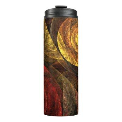 The Spiral of Life Abstract Art Thermal Tumbler