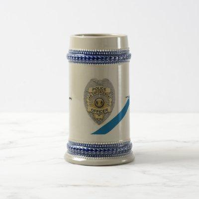 The Thin Blue Line Police Officer Beer Stein