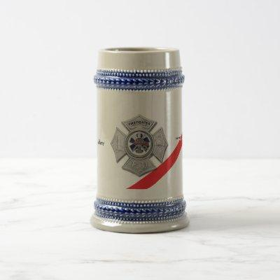 The Thin Red Line Firefighter Beer Stein
