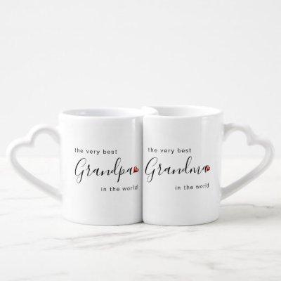 The Very Best Grandma & Grandpa in the World Love Coffee Mug Set