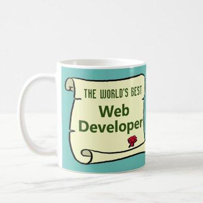 The World's Best Web Developer. Coffee Mug