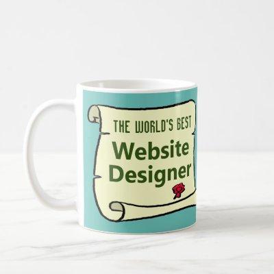 The World's Best Website Designer. Coffee Mug