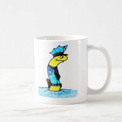 the worm police coffee mug