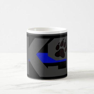 THIN BLUE LINE K9 UNIT LAW ENFORCEMENT COFFEE MUG